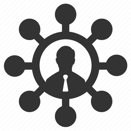 businessman, connection, links, mindmap, nodes, organization, social icon