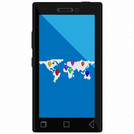 gps, location, map, mobile location, tracking icon
