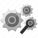 configuration, control, gear, machine, mech, mechanics, options icon