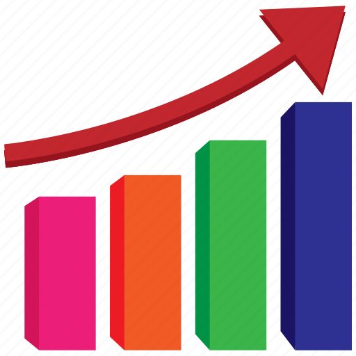 bar, diagram, economics, finance, graph, growth, report icon