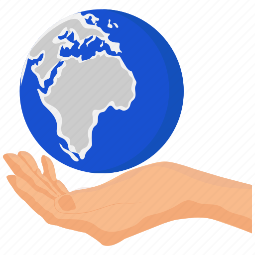 business, earth, ecology, globe, hand, planet icon