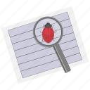 dock, document, documentation, note, paper, search, text icon