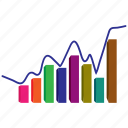 bar, diagram, economics, finance, graph, growth, report icon