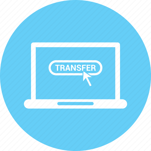 computer, laptop, transfer icon