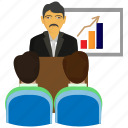 board, chart, graph, growth presentation, marketing, presentation, sales icon