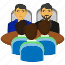 business, conference, conference room, conversation, group, meeting, team icon