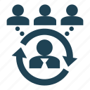 contractor, employee, hire, outsourcing, recruit, service, supplier icon