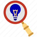 bank, business, finance, invention, light, office, search icon