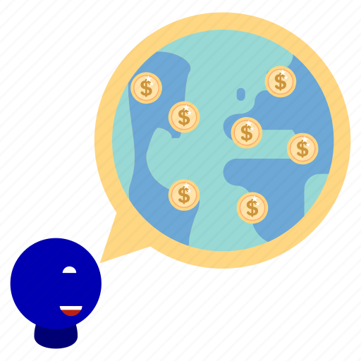 bank, business, finance, find, globe, marketing, office icon