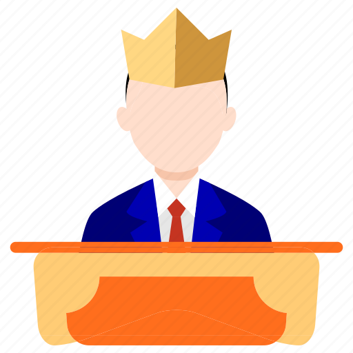 bank, boss, business, director, finance, leader, office icon