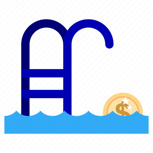bank, business, currency, finance, marketing, office, swimming pool icon