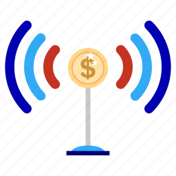bank, business, finance, focus, marketing, office, signal icon