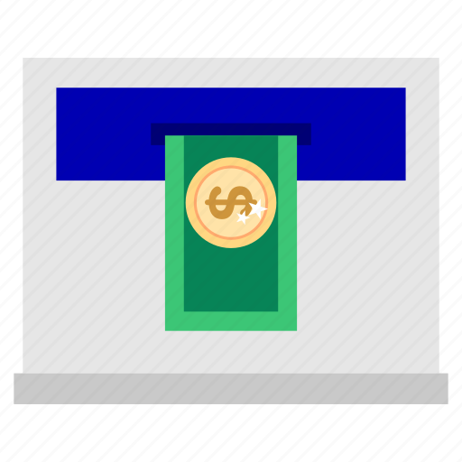 atm, bank, business, displacement, finance, office, transfer icon