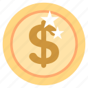 bank, business, coin, dollar, finance, money, office icon