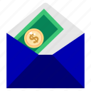 bank, business, deposit, envelope, finance, guardar, office, save icon