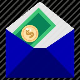 bank, business, deposit, envelope, finance, guardar, office, save icon