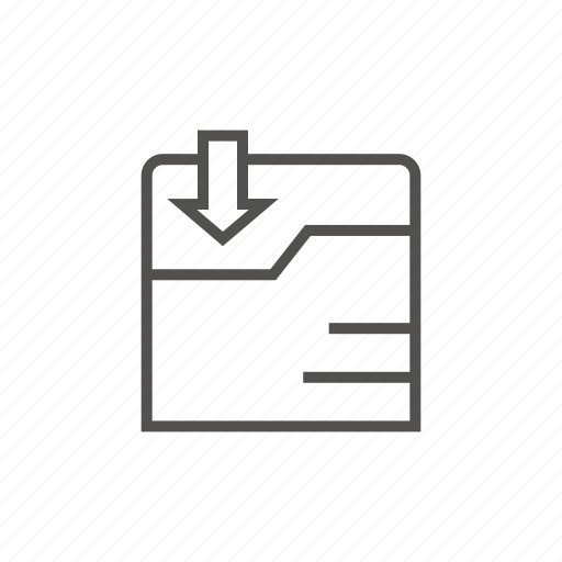 and, business, download, technology icon