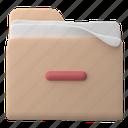 files, and, folders, delete, remove, minus, file, folder, document, sort, storage, paper, page