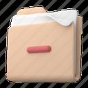 files, and, folders, delete, remove, minus, folder, file, document, sort, storage, paper, page