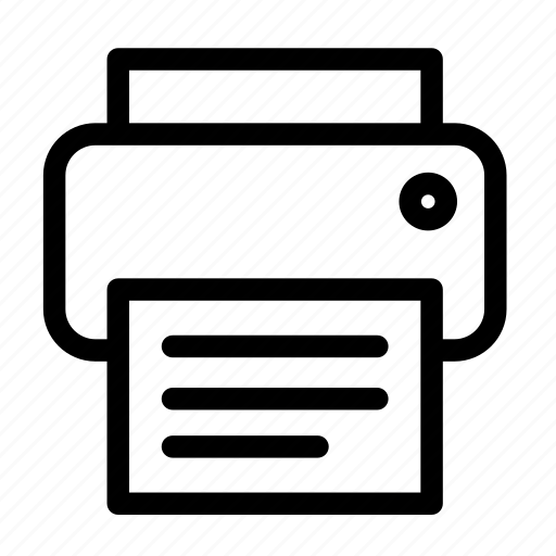 business, collection, imprint, outlines, print, printer, printing icon