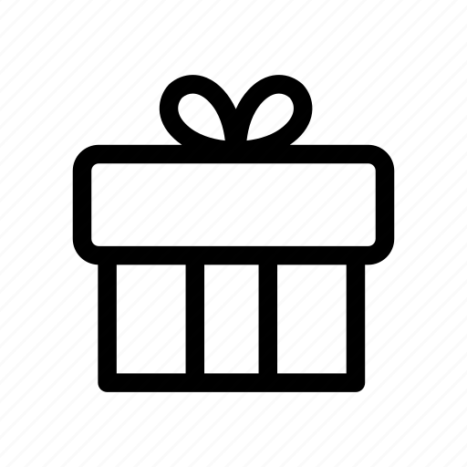 birthday, business, collection, gift, gift box, outlines, present icon