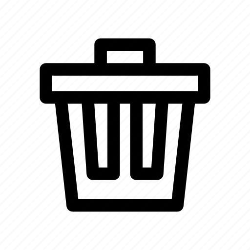business, collection, delete, outlines, recycle bin, trash, trash can icon