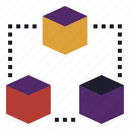 block, blockchain, chain, database, startup, technology icon