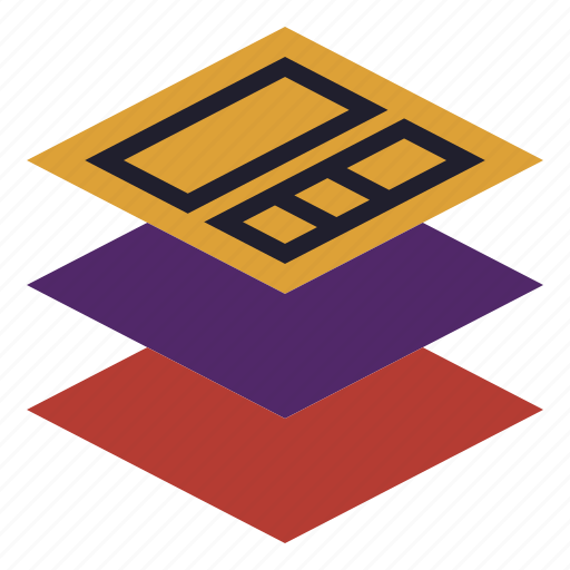 components, layer, layout, material, plan icon