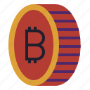 bitcoin, cryptocurrency, currency, digital, gold, money, value icon