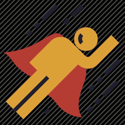 adventure, growth, hacker, hero, superman icon