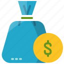bag, business, cash, coin, currency, dollar, money
