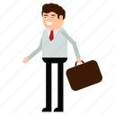 briefcase, businessman, man, office, portfolio, worker icon