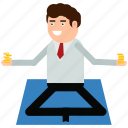 businessman, earnings, income, male, man, meditation icon
