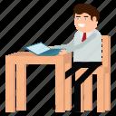 businessman, ecommerce, freelancer, freelancing, man, shop icon