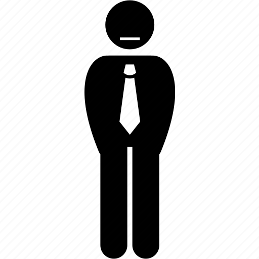 businessman, quiet, silent, timid icon