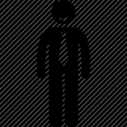 businessman, cheerful, friendly icon