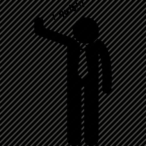 businessman, quit, stop icon