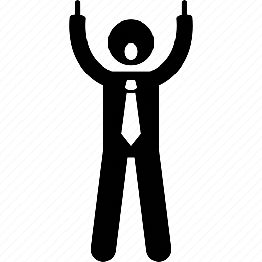 businessman, fuck, middle finger, rude icon