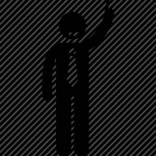 businessman, decision, decisive icon