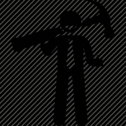 business, businessman, fix, hammer, man, repair, service icon