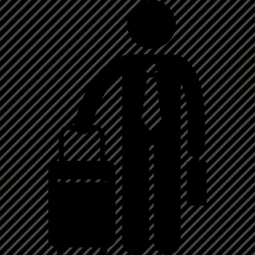 bag, baggage, businessman, luggage, travel icon