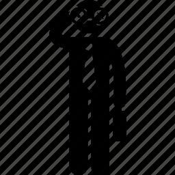 binocular, businessman, finding, holding, searching icon