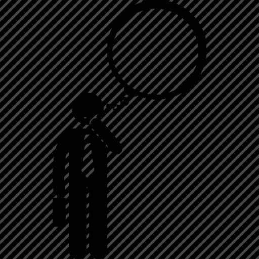 businessman, mind, thinking, thought icon