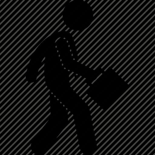 business, businessman, man, walk, walking icon