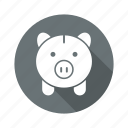 banking, finance, invest, money, piggy bank icon