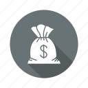 business, cash, dollar, finance, money, sack icon