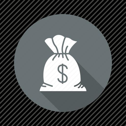 business, cash, dollar, finance, money, sack icon