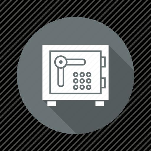bank locker, locker, safe money icon