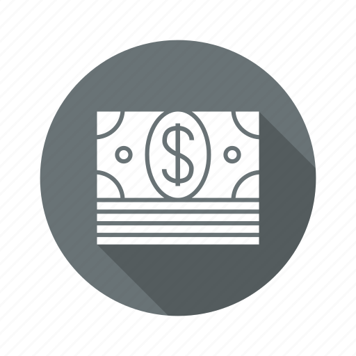 bundle of dollar, cash, dollar, money icon