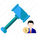 auction, bussines, bussines icon, corrupt, office, office icon, sale icon